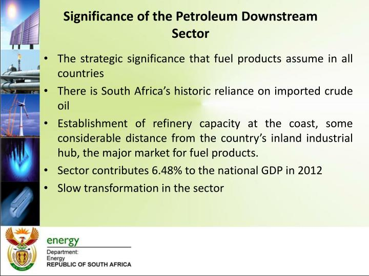 Significance of the Petroleum Downstream Sector