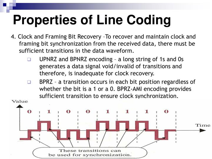 Properties of Line Coding