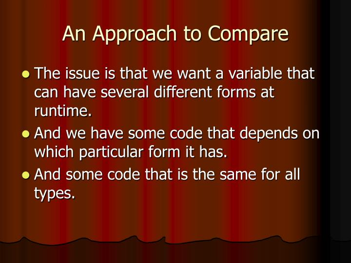 An Approach to Compare