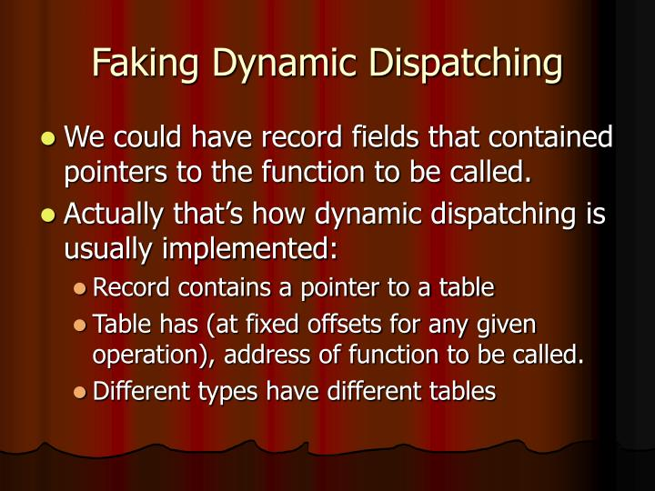 Faking Dynamic Dispatching