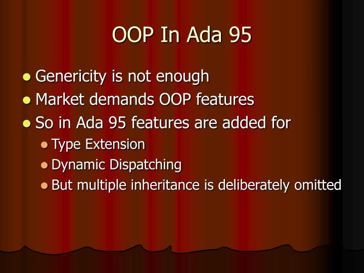 OOP In Ada 95