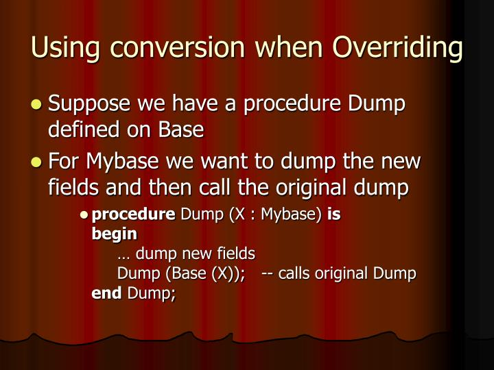 Using conversion when Overriding