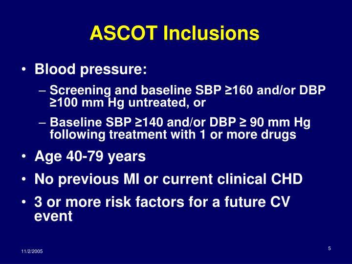 ASCOT Inclusions