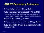 ascot secondary outcomes