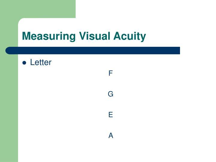 Measuring Visual Acuity