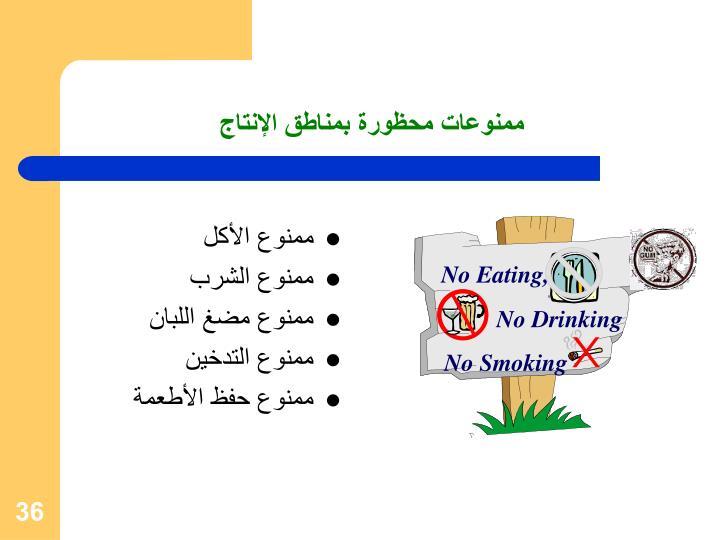 No Eating,