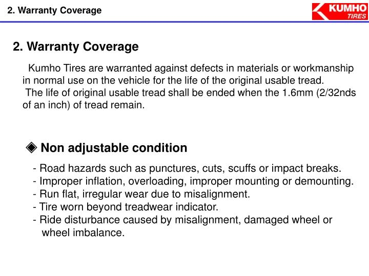 2. Warranty Coverage