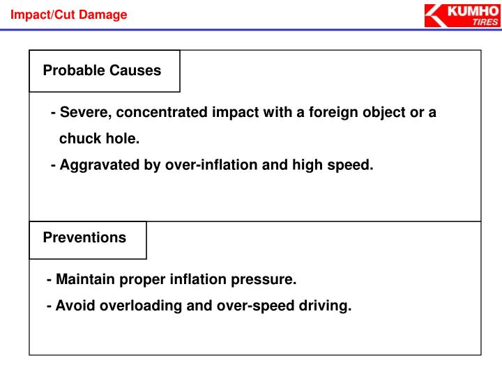 Impact/Cut Damage