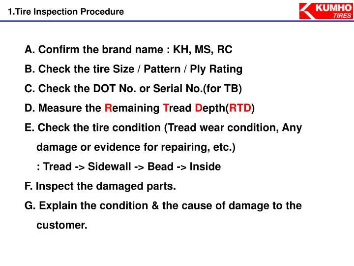 1.Tire Inspection Procedure