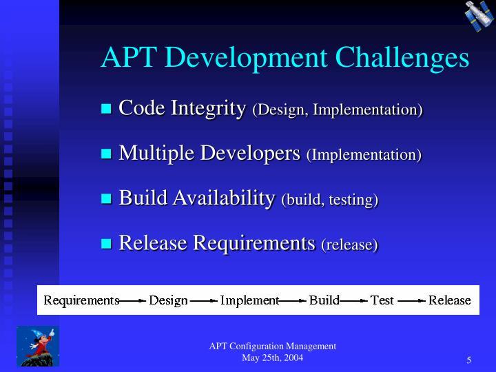 APT Development Challenges