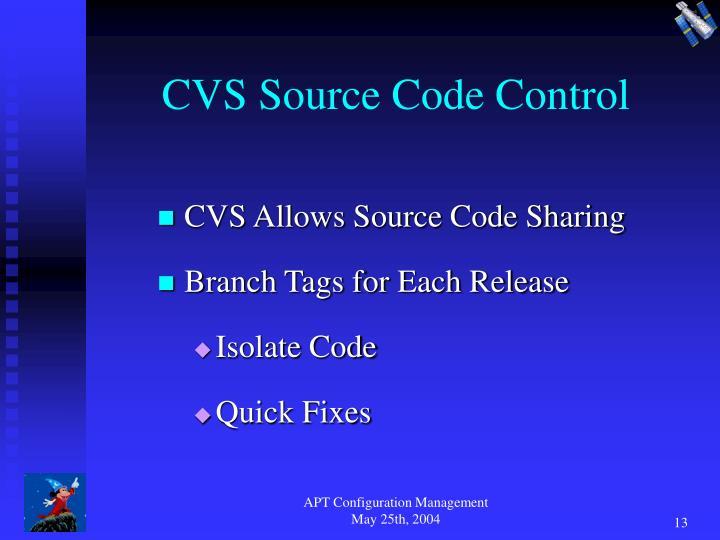 CVS Source Code Control