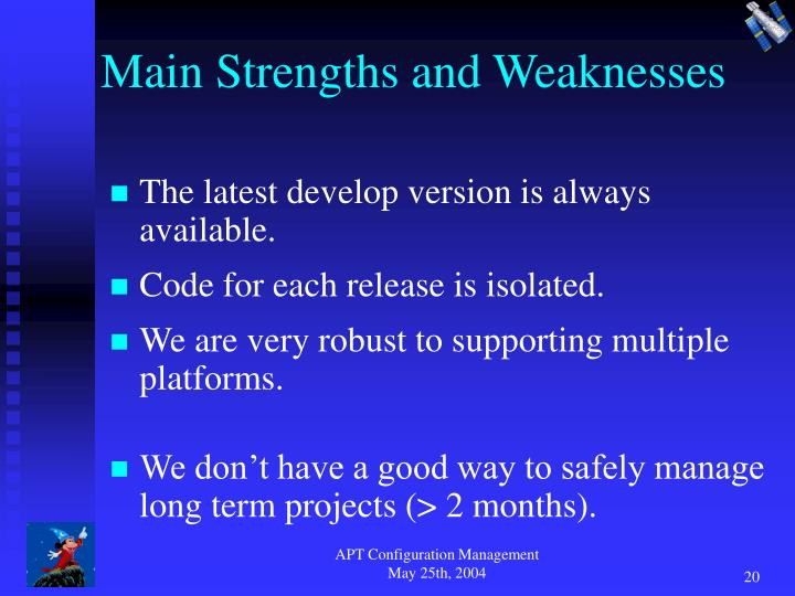 Main Strengths and Weaknesses