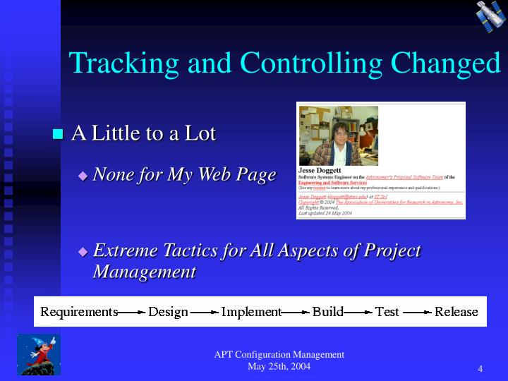 Tracking and Controlling Changed