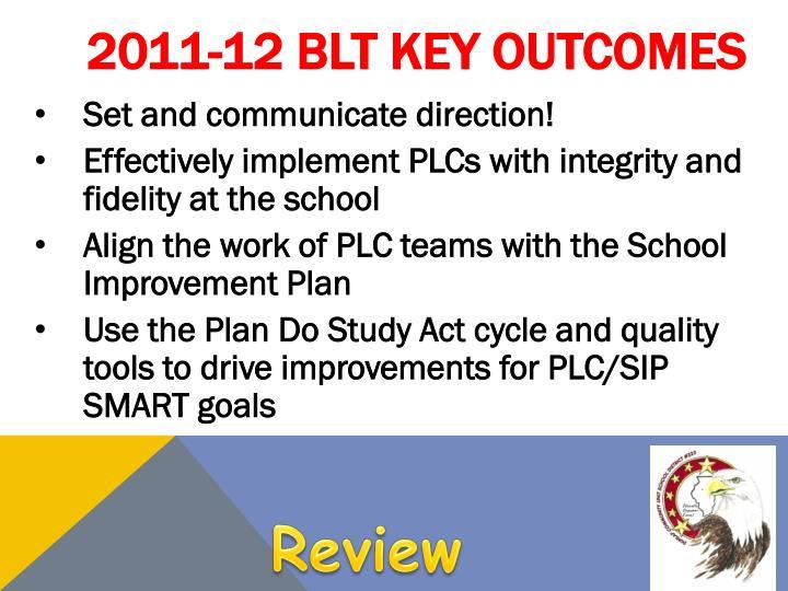 2011-12 BLT Key Outcomes
