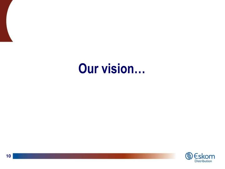 Our vision…