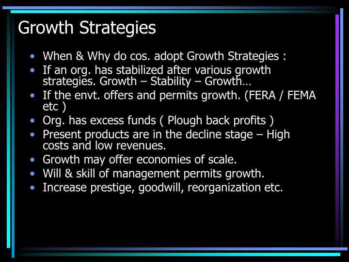 Growth Strategies