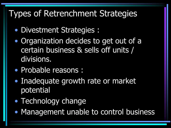 Types of Retrenchment Strategies