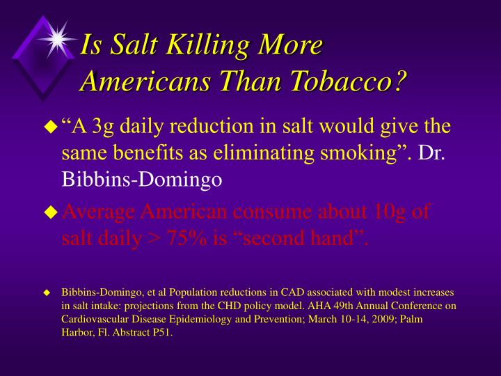 Is Salt Killing More Americans Than Tobacco?