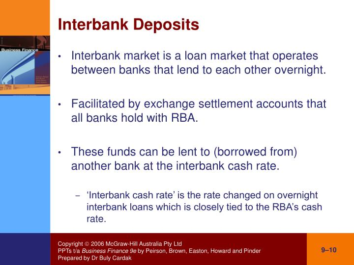 Interbank Deposits