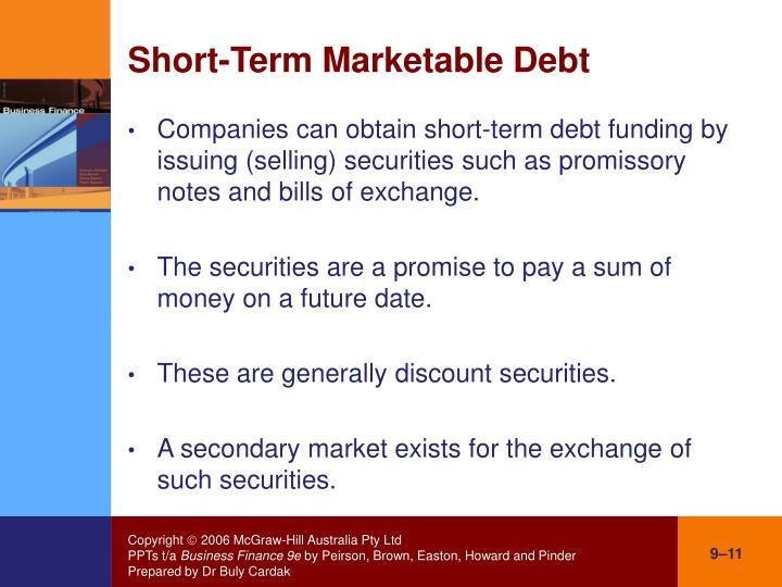 Short-Term Marketable Debt