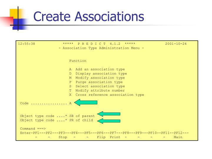 Create Associations