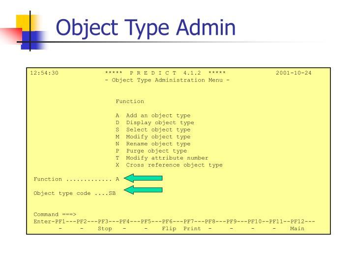Object Type Admin