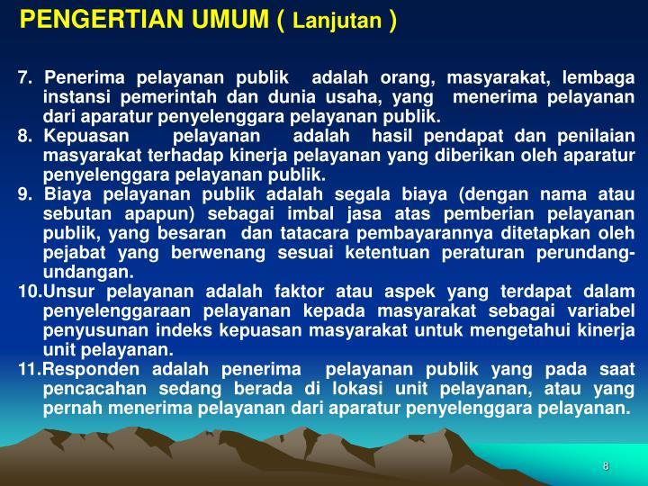 PENGERTIAN UMUM (