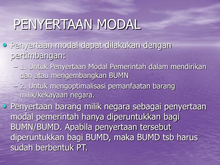 PENYERTAAN MODAL