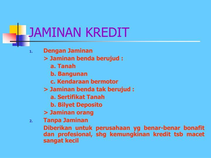 JAMINAN KREDIT
