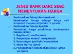 jenis bank dari segi menentukan harga