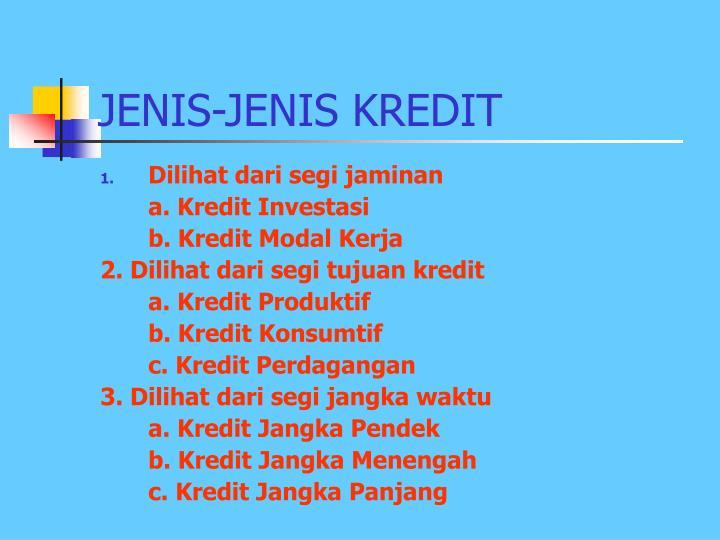 JENIS-JENIS KREDIT