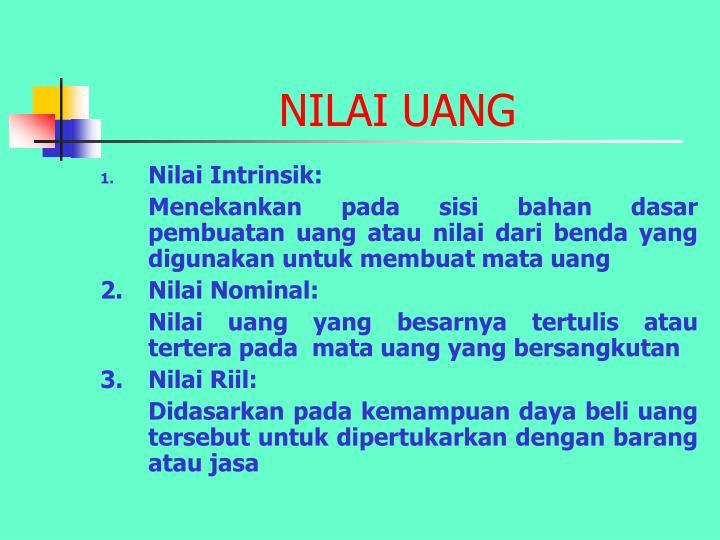 NILAI UANG