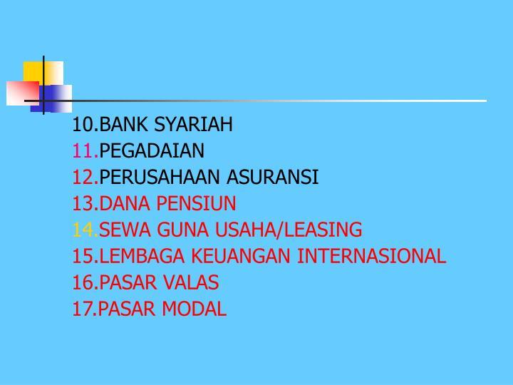 10.BANK SYARIAH
