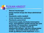 tujuan kredit