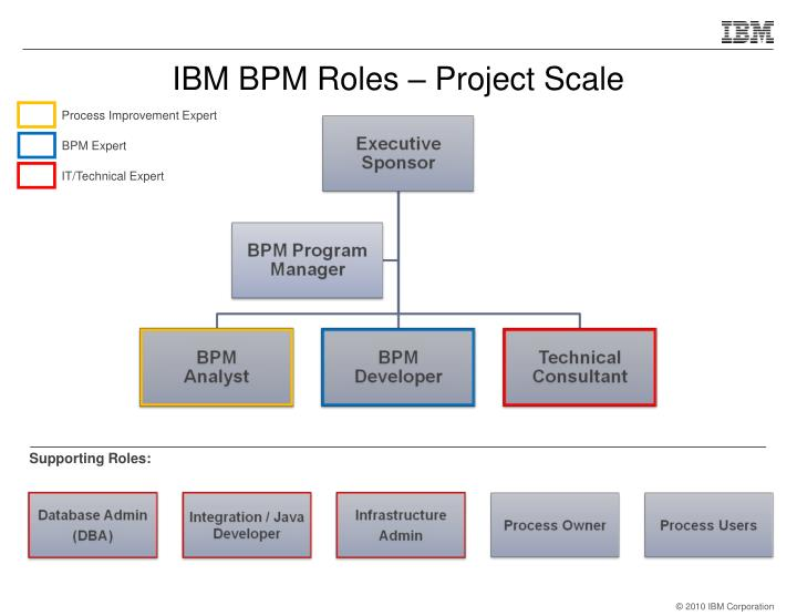 IBM BPM Roles – Project Scale