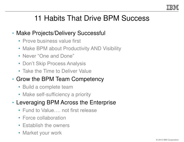 11 Habits That Drive BPM Success