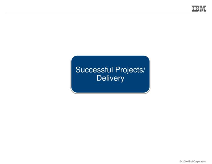 Successful Projects/ Delivery