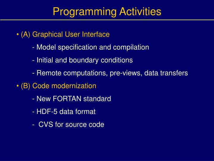 Programming Activities