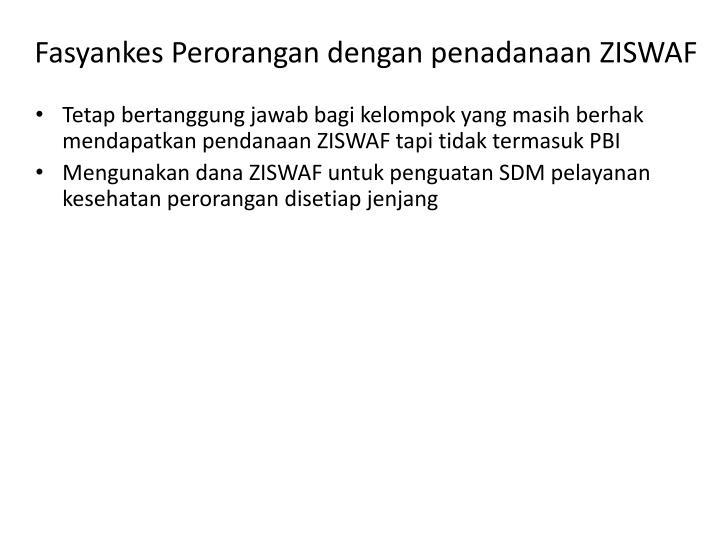 Fasyankes Perorangan dengan penadanaan ZISWAF