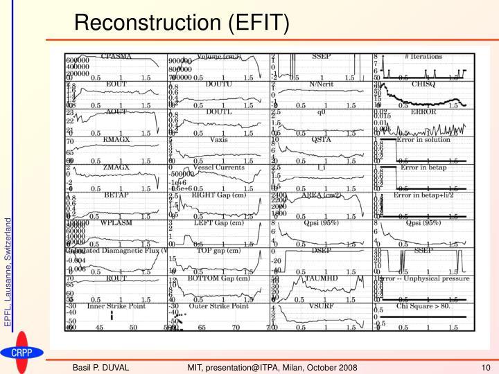 Reconstruction (EFIT)