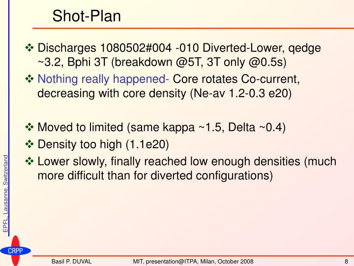 Shot-Plan