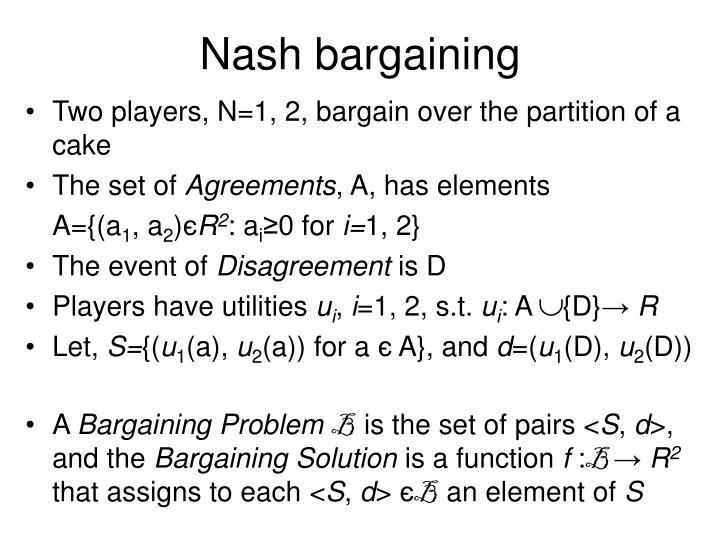 Nash bargaining