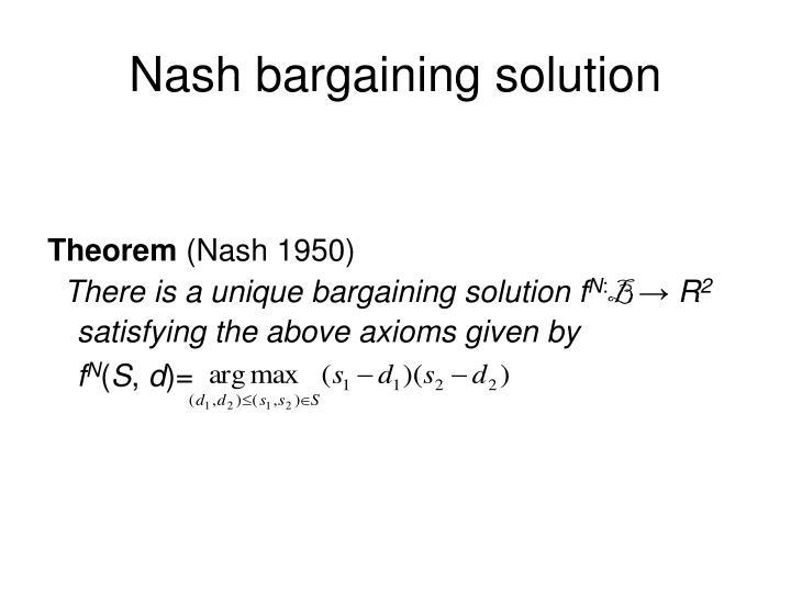 Nash bargaining solution