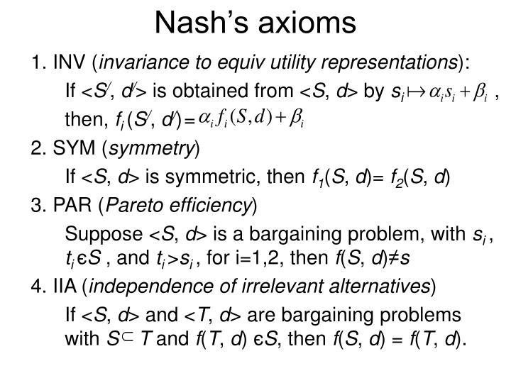 Nash's axioms