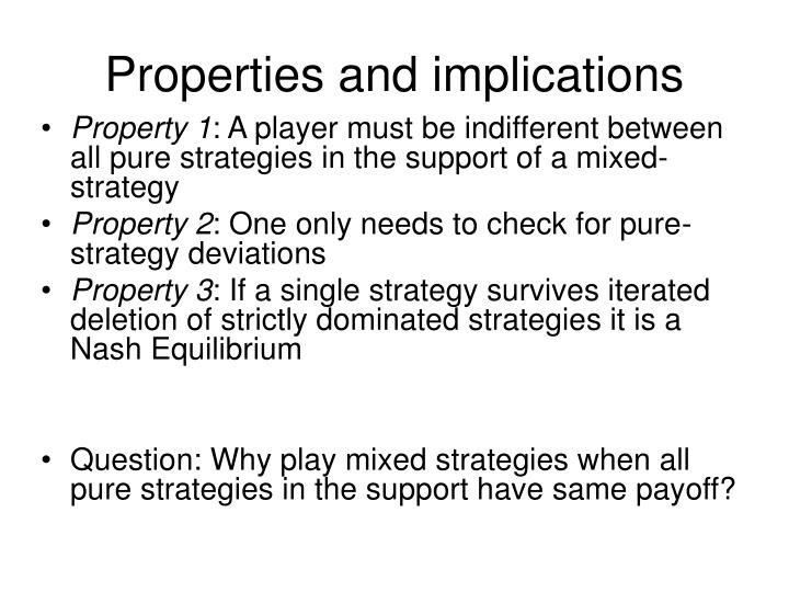 Properties and implications