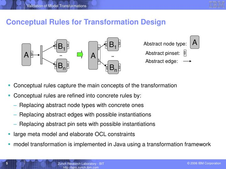 Conceptual Rules for Transformation Design