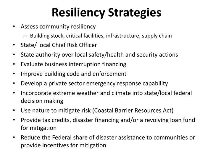 Resiliency Strategies