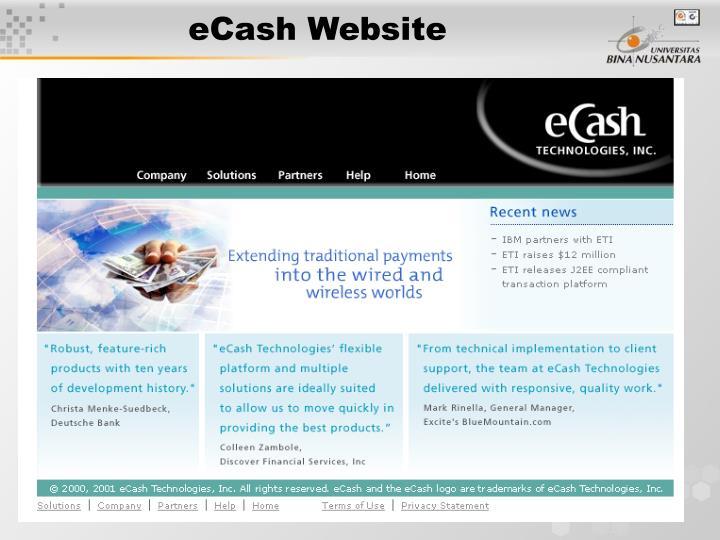 eCash Website