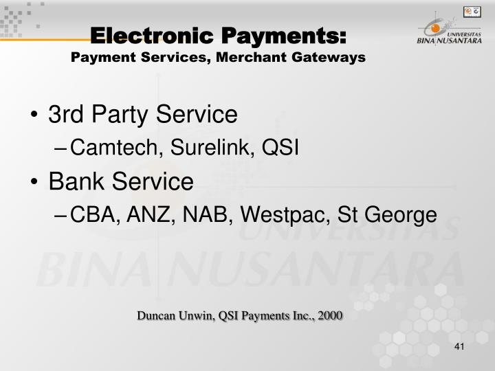 Electronic Payments: