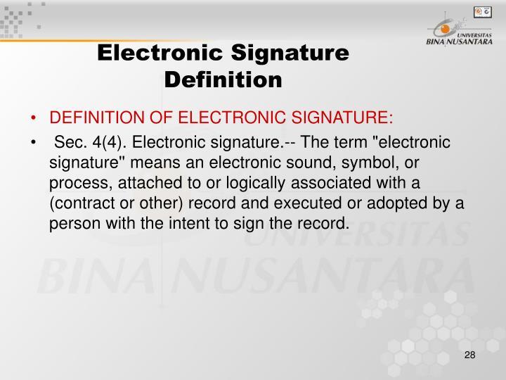Electronic Signature Definition